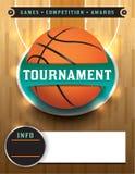 Plantilla del torneo del baloncesto Fotos de archivo libres de regalías