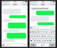 Plantilla del uso de la charla/del SMS stock de ilustración