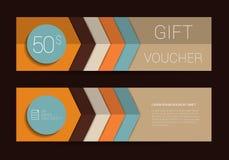 Plantilla del vale de regalo del color Diseño simplemente completamente moderno ilustración del vector