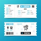 Plantilla del vector del boleto de la entrada del cine en estilo minimalista moderno Fotografía de archivo libre de regalías