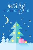 Plantilla del vector de la Feliz Navidad Imagenes de archivo