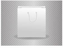 Plantilla del vector de la maqueta del bolso del Libro Blanco para la identidad corporativa en fondo transparente Fotos de archivo