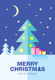 Plantilla del vector de la Navidad Imagen de archivo libre de regalías