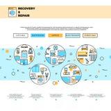 Plantilla del vector de la página del sitio web del servicio de reparación de los aparatos electrodomésticos stock de ilustración