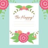 Plantilla del vector de la tarjeta de felicitación Fotos de archivo