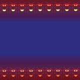 Plantilla del vector de la tarjeta de felicitación del ornamento Foto de archivo