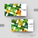 Plantilla del vector de la tarjeta de visita con el fondo abstracto Imagen de archivo libre de regalías