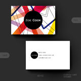 Plantilla del vector de la tarjeta de visita con el fondo abstracto Fotografía de archivo libre de regalías