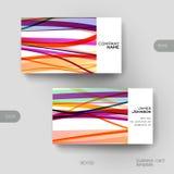 Plantilla del vector de la tarjeta de visita con el fondo abstracto Imagen de archivo