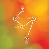 Plantilla del vector de Minimalistic con el fondo borroso discreto f Fotografía de archivo libre de regalías