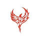 Plantilla del vector de Phoenix Foto de archivo