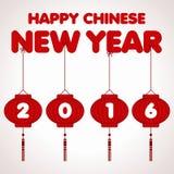 Plantilla del vector del Año Nuevo 2016 del mono Fotos de archivo