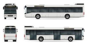 Plantilla del vector del autobús de la ciudad Imagen de archivo