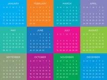 Plantilla 2016 del vector del calendario Fotos de archivo