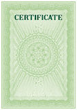 Plantilla del vector del certificado detallado Fotos de archivo