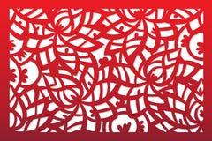 Plantilla del vector del corte del laser libre illustration