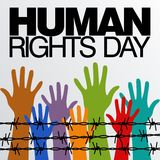 Plantilla del vector del día de los derechos humanos stock de ilustración