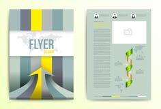 Plantilla del vector del diseño de la cubierta del folleto del aviador libre illustration
