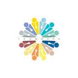 Plantilla del vector del diseño de la muestra de Team Partners Friends Foto de archivo