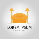 Plantilla del vector del diseño de Logo Sofa Ejemplo del sofá stock de ilustración