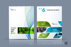 Plantilla del vector del negocio La disposición del folleto, cubre el diseño moderno a fotografía de archivo