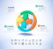 Plantilla del vector en estilo moderno Para infographic y la presentación stock de ilustración