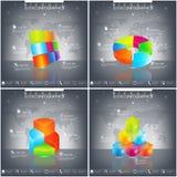 Plantilla del vector infographic Concepto del negocio con 4 - 9 opciones Diseño moderno 3D Fotos de archivo