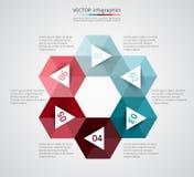 Plantilla del vector para el infographics Foto de archivo
