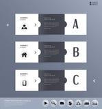 Plantilla del vector para los conceptos del negocio con los iconos, Fotos de archivo