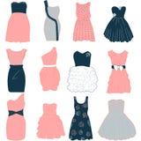 Plantilla del vestido de la moda Fotografía de archivo libre de regalías