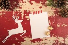Plantilla del vintage de la Navidad y del Año Nuevo Imagenes de archivo