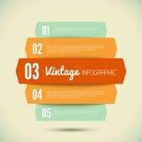Plantilla del vintage para su infographic Fotos de archivo libres de regalías