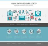 Plantilla del web de la atención sanitaria y de la medicina libre illustration