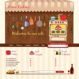 Plantilla del web de la cocina casera Fotos de archivo libres de regalías