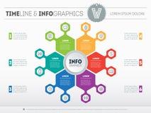 Plantilla del web para el círculo infographic, el diagrama o la presentación BU libre illustration