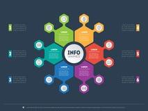 Plantilla del web para el círculo infographic, el diagrama o la presentación BU stock de ilustración