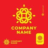Plantilla determinada de Ethno del nudo del brillo del concepto popular moderno de Logo Identity Brand Symbol Icon Fotos de archivo libres de regalías