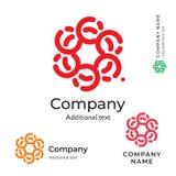 Plantilla determinada del concepto tradicional del icono del símbolo de la marca de la belleza de Logo Ornament Stylish Folk Iden Imagenes de archivo