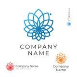 Plantilla determinada del contorno de la flor del concepto moderno hermoso de Logo Identity Brand Icon Symbol stock de ilustración