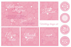 Plantilla determinada del vector del diseño de la boda de la invitación Fotografía de archivo libre de regalías