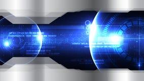 Plantilla diplay ab del fondo del vector de la cabeza-para arriba tecnológica del espacio Imagen de archivo libre de regalías