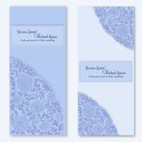 Plantilla dulce de las invitaciones de boda para su diseño Fotografía de archivo libre de regalías