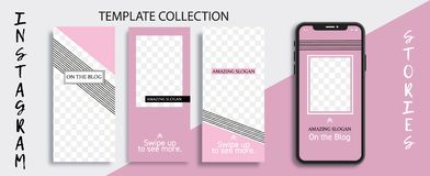 Plantilla Editable comercial de las historias de Instagram Plantilla para la medios red social Venta streaming stock de ilustración