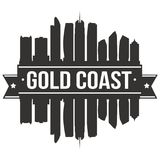 Plantilla Editable de la silueta de Art Design Skyline Flat City del vector del icono de Gold Coast Australia Imágenes de archivo libres de regalías