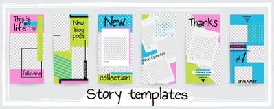 Plantilla editable de moda para las historias sociales de las redes, enfermedad del vector ilustración del vector