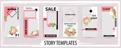 Plantilla editable de moda para las historias sociales de las redes, enfermedad del vector stock de ilustración