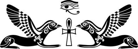 Plantilla egipcia del horus stock de ilustración