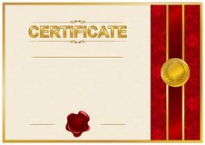 Plantilla elegante del certificado, diploma libre illustration