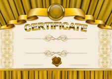 Plantilla elegante del certificado, diploma Imagen de archivo