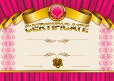 Plantilla elegante del certificado, diploma Foto de archivo